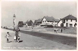 Ansichtkaart Noordwijk aan Zee Koningin Wilhelmina Boulevard Vuurtoren 1952 HC4266