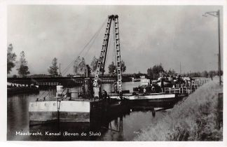 Ansichtkaart Maasbracht Kanaal Boven de Sluis Scheepvaart Binnenvaart Schepen HC4273