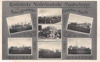 Ansichtkaart Sneek Fotokaart Koninklijke Nederlandsche Maatschappij van Kaas- & Roomboter- Fabrieken Zuivelfabriek 1951 HC4275