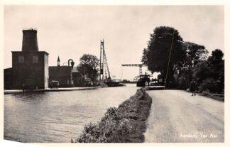 Ansichtkaart Ter Aar Aardam Burg Stomp Molen Kerk 1956 HC4278