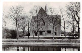 Ansichtkaart Harlingen Gereformeerde Kerk 1957 HC4280