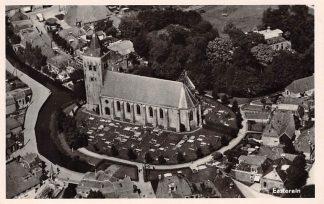 Ansichtkaart Easterein Oosterend (FR) Luchtfoto Dorpskern Kerk en Begraafplaats 1951 HC4311