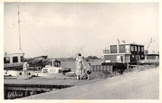 Ansichtkaart Lelystad Haven Schepen 1956 HC4312