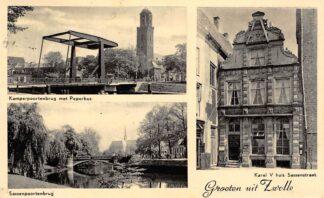 Ansichtkaart Zwolle Groeten uit 1953 HC4317