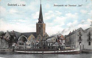 Ansichtkaart Ouderkerk aan den IJssel Stoombootreederij De IJssel tussen Gouda en Rotterdam Scheepvaart Binnenvaart HC4336