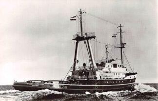 Ansichtkaart IJmuiden Zee sleepboot Willem Barendsz N.V. Bureau Wijsmuller Scheepvaart Schepen HC4350