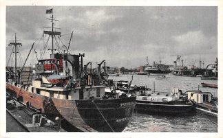 Ansichtkaart Amsterdam Haven met Droogdokken 1956 IJstroom Binnenvaart schepen Scheepvaart HC4355