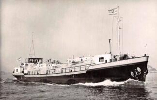 Ansichtkaart Rotterdam Motortankschip Butania I Ingericht voor het vervoer van vloeibaar gas 1961 PHs. van Ommeren Scheepvaart Binnenvaart Schepen HC4374