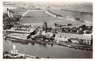 Ansichtkaart Moordrecht K.V.T. Tapijt fabriek Hollandsche IJssel Luchtfoto HC4398
