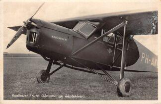 Ansichtkaart Rotterdam Koolhoven Vliegtuigen F.K. 43 (eenmotorige eendekker) 1935 Luchtvaart HC4441