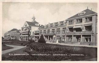 Ansichtkaart Groesbeek R.K. Sanatorium Dekkerswald Voorgevel 1938 Type fotokaart HC4451