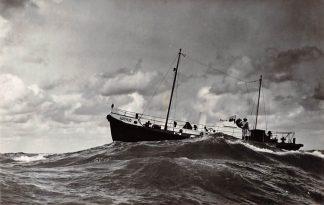 Ansichtkaart Hindeloopen Motor reddingboot Arthur Kon. Noord- en Zuid-Hollandse Redding Maatschappij 1957 Scheepvaart Schepen HC4461