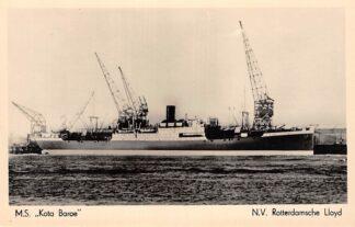 Ansichtkaart Rotterdam M.S.. Kora Baroe 1947 N.V. Rotterdamsche Lloyd Scheepvaart Schepen HC4491