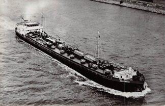 Ansichtkaart Rotterdam Motortank schip Aquitania PHs van Ommeren N.V. 1962 Binnenvaart schepen Scheepvaart HC4509