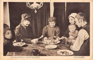 Ansichtkaart Noord-Brabant Brabantsch Dorpsleven 1931 Avondmaal HC4541