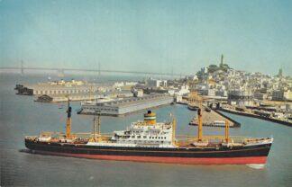 Ansichtkaart Rotterdam s.s. Diemerdyk at San Francisco Noord-Amerika Scheepvaart Schepen HC4568