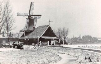 Ansichtkaart Zaandam Zaanse Schans Mostermolen De Huisman in de sneeuw Molen HC4579