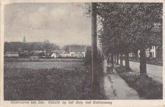 Ansichtkaart Oostvoorne aan Zee Gezicht op het dorp met Stationsweg 1929 HC4595