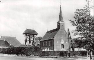 Ansichtkaart Donkerbroek N.H. Kerk met begraafplaats en Klokkenstoel HC4646