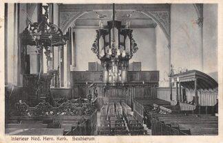 Ansichtkaart Sexbierum Interieur Ned. Hervormde Kerk 1927 Orgel HC4690