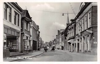 Ansichtkaart Kollum Voorstraat West Hotel SHELL benzinepomp 1955 HC4736
