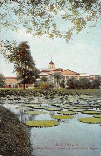 Ansichtkaart Nederlands-Indië Buitenzorg Palace Governor General and famous Victoria Regina's 1917 Indonesië Indonesia Azië HC4796