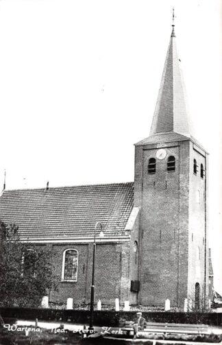 Ansichtkaart Wartena Ned. Hervormde Kerk met begraafplaats HC4800