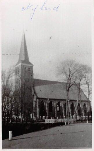Ansichtkaart Nijland Fotokaart Ned. Hervormde Kerk met begraafplaats Bij Bolsward HC4805