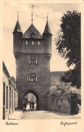 Ansichtkaart Hattem Dijkpoort 1939 HC4811