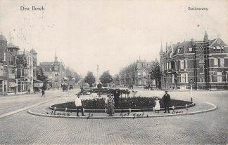 Ansichtkaart Den Bosch Stationsweg 1910 's-Hertogenbosch HC4845