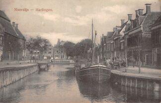 Ansichtkaart Harlingen Noordijs Binnenvaart schepen Scheepvaart HC4851