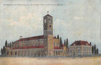 Ansichtkaart Eindhoven H. Antonius van Padua en O.L. Vr. Onbevl. Ontv. te Eindhoven Strijp 1919 HC4869