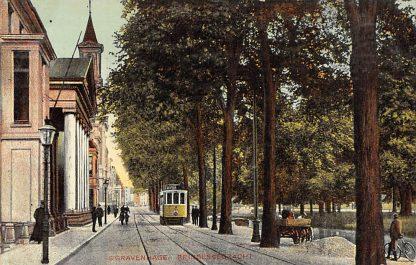 Ansichtkaart 's-Gravenhage Prinsessegracht met HTM Tram 21 1909 Den Haag HC4874