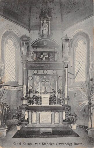 Ansichtkaart Boxtel Kapel Kasteel van Stapelen (Inwendig) 1918 HC4903