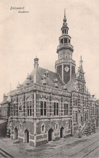 Ansichtkaart Bolsward Stadhuis 1918 HC4907