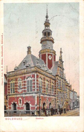 Ansichtkaart Bolsward Stadhuis voor 1906 HC4908