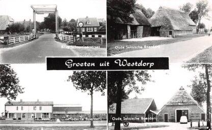 Ansichtkaart Westdorp Groeten uit Vierluik Borger Odoorn HC4920