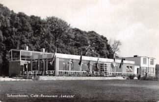 Ansichtkaart Schoonhoven Café Restaurant Lekzicht 1959 HC4922