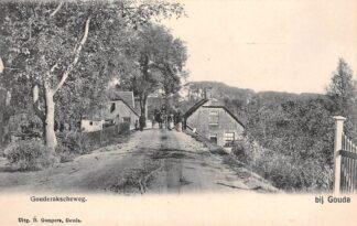 Ansichtkaart Stolwijkersluis bij Gouda Gouderakscheweg met paard en wagen Gompers HC4957