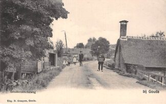 Ansichtkaart Stolwijkersluis bij Gouda Gouderakscheweg met marskramer Gompers HC4958
