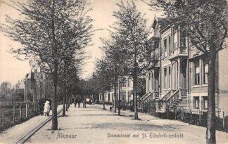 Ansichtkaart Alkmaar Emmastraat met St. Elizabeth-gesticht 1914 HC4959