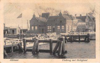 Ansichtkaart Alkmaar Vlotbrug met Heiligland Molen HC4962