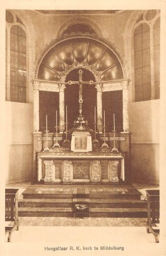 Ansichtkaart Middelburg Hoogaltaar R.K. kerk HC4981