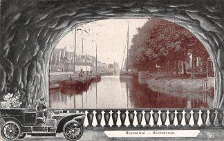 Ansichtkaart Heerenveen Heerenwal Binnenvaart schepen Scheepvaart 1908 HC5008