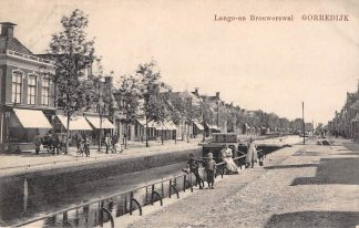 Ansichtkaart Gorredijk Lange- en Brouwerswal 1920 HC5021