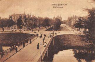Ansichtkaart 's-Hertogenbosch Stationsweg Station HC5024