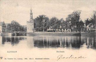 Ansichtkaart Alkmaar Bierkade met binnenvaart schepen 1906 Scheepvaart HC5031
