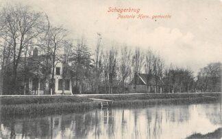 Ansichtkaart Schagerbrug Pastorie Hervormde Gemeente 1906 Schagen HC5045