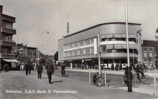 Ansichtkaart Schiedam H.A.V. Bank G. Verboonstraat 1943 HC5052