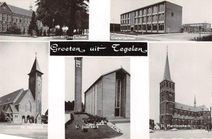 Ansichtkaart Tegelen St. Jozefschool Gieterij school Kerken HC5073